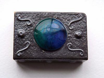 Antique Arts & Crafts Pewter Ruskin Matchbox Cover - c.1910