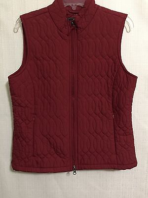 Royal Robbins Quilted Vest Womens Dark Red Polyfil SZ Medium Packable