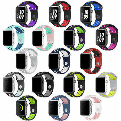 New Sports Silicone Replacement Nike Apple Watch Strap Band 38/42Mm Series 3/2/1
