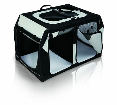 Trixie Transportbox Vario Double, 91×60×61/57 cm, schwarz/grau