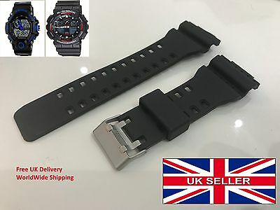 CASIO G-SHOCK watch strap GA-100 G-8900 etc 16mm Fitting 25mm Width Replacement