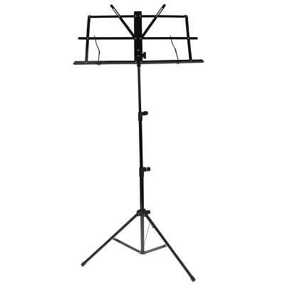 Black Portable Music Stand Adjustable Music Holder Folding w Carrying Bag