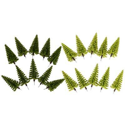 20 Pack Model Pine Trees for Train Railway Scenery Layout 1/75 HO OO Scale