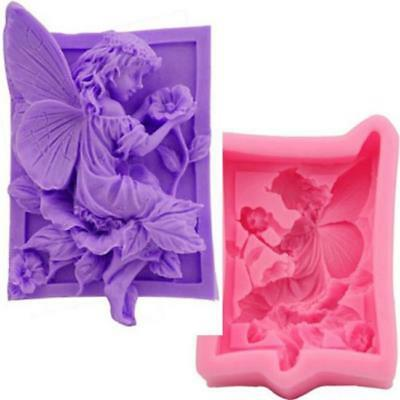 Flower Fairy Silicone Soap Mold Craft Molds DIY Handmade Soap Mould NEW S