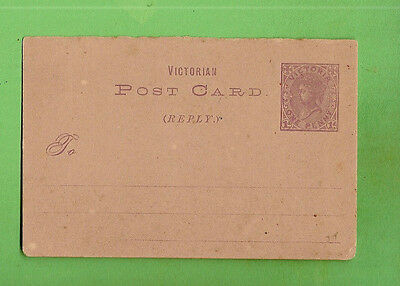 #n.   Prepaid  Victoria  Reply  Postcard  - About 1890