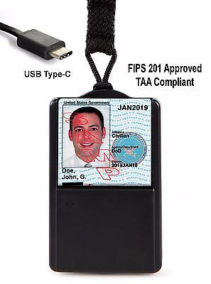 SGT118X-6c CAC PIV Smart Card Reader FIPS201/TAA compliant USB C - FREE SHIPPING