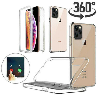 360° Silicone Soft TPU Protective Full Front Back Shockproof Clear Case Cover