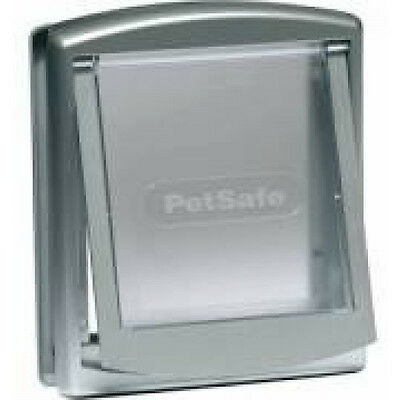 Porte Petsafe Staywell à 2 positions gris pour chat ou chien 7 kg