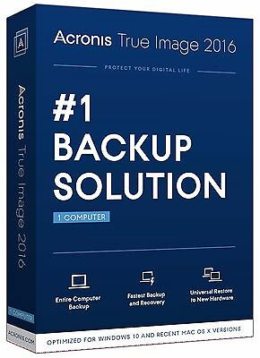 Acronis True Image 2016 for 1 Computer