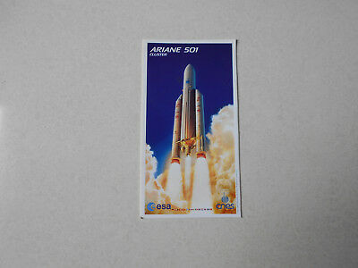 Old Sticker / Ancien Autocollant ' Ariane 501 '  ESA