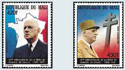 Timbres Personnages De Gaulle Mali PA401/2 ** lot 22303
