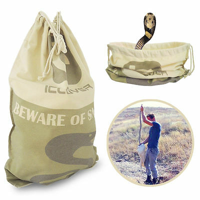 Heavy Duty Snake Bag Sack Catching with Drawstring Protect Reptile Bite 50x70CM