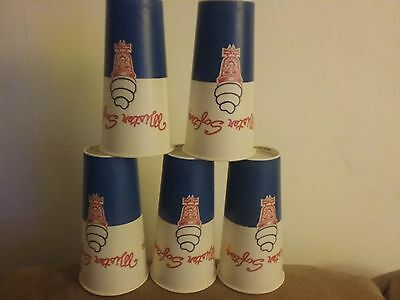 Lot of FIVE 1950/60's MISTER SOFTEE, Un-Used CUPS 21oz. Solo cup RARE FREE SHIP