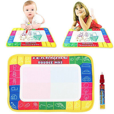 Drawing Water Pen Painting Magic Doodle Aquadoodle Mat Board Kid Boy Girl Toy~