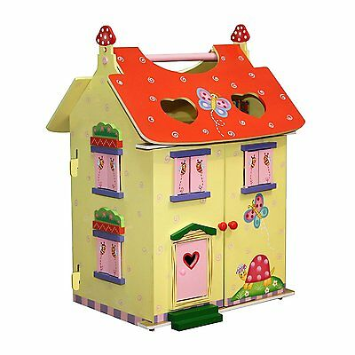 Fantasy Fields by Teamson Magic Garden Childrens Wooden Dolls House with Furnitu