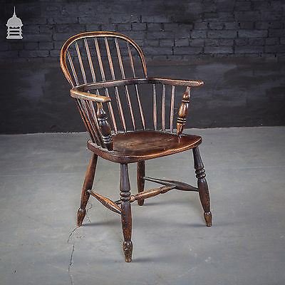 Georgian Windsor Stick Back Elm Chair