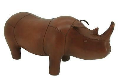 Handmade Leather Rhino Footstool / Unusual Interior Design - 28cm x 56cm