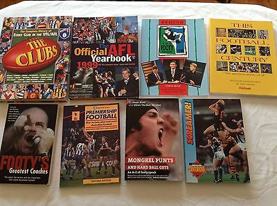 8 AFL FOOTBALL BOOKS Bulk Lot!