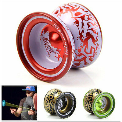 1X YoYo Ball Aluminum Alloy Bearing With String Playing Toy Gift For Kids Adults