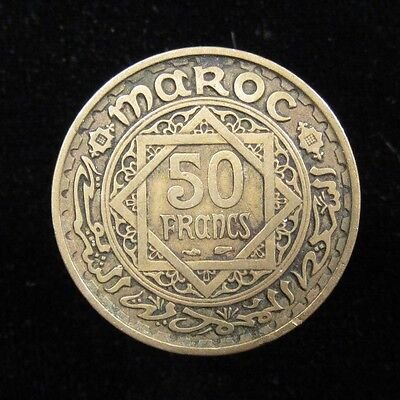 Morocco (French Protectorate) 50 Francs AH1371