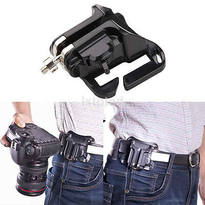 Waist Belt Buckle Clip Strap Hanger Holder for DSLR Camera Canon Nikon Sony au~