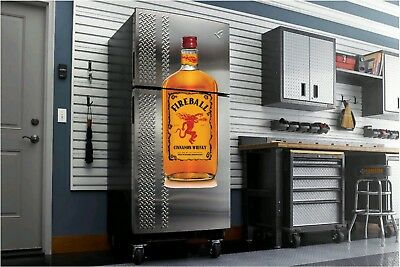 Fireball Whiskey decal fathead sticker 4' dorm room garage man cave bar shot