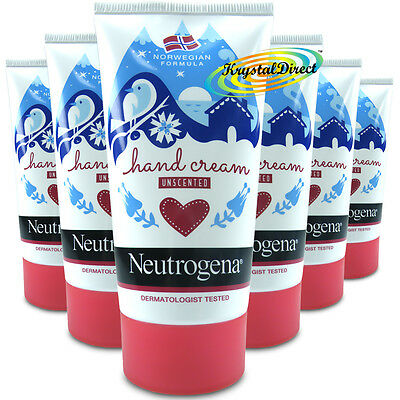 6x Neutrogena Norwegian Formula Concentrated Hand Cream Unscented 75ml