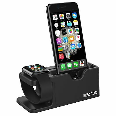 Apple Watch iWatch iPhone 7 Charging Dock Stand Bracket Charger Holder Black New