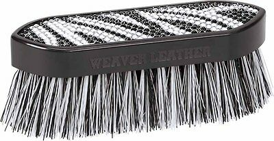 Weaver Leather Bling Face Brush, Black/White Zebra