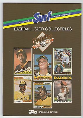 San Diego Padres 1969-1988 Topps Baseball Cards by SURF