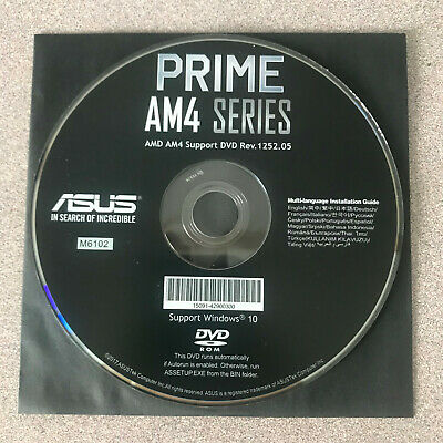 """NEW"" ASUS PRIME B350-PLUS Motherboard Drivers Installation DVD"
