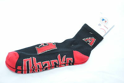 Arizona Diamondbacks Dual-Colour Team Logo Crew Socks, Adult Shoe Size 7-12