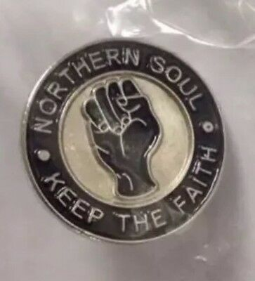 Northern Soul Pin Badge Keep The Faith Lapel Gift Present Mod