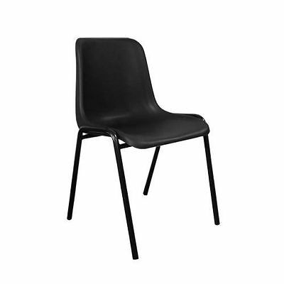 Black Plastic Stacking Chair Polypropylene office canteen chair stackable