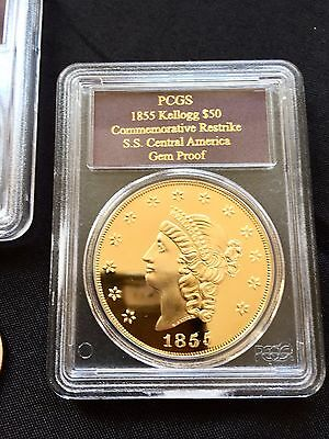 ~ 2.42 Troy Ounces  ~ Shipwreck Ss Central America ~ Pcgs Proof Gold Coin