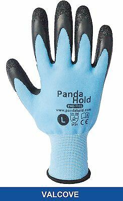 PandaHold Work Gloves - Latex Palm Coated Cotton Polyester Liner