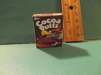 Barbie 1:6 Kitchen Food Miniature Handmade Box of Cereal Cocoa Puffs
