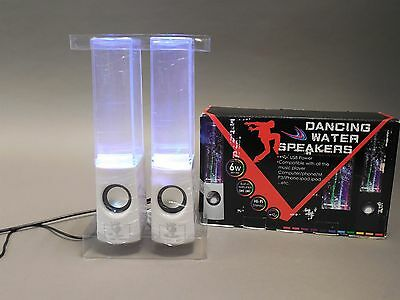 Dancing LED Water Speakers with White Base - New in Box