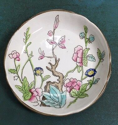"""1800's ANTIQUE Fine Indian Tree Pattern BUTTER PAT 3"""" by Burgess & Leigh England"""