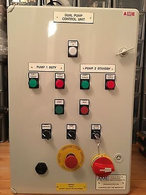 Sump Pump Control Panel Motor Starter Panel Float Switch Controlled 3 Or 2 Phase