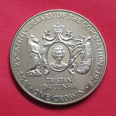 1978 Tristan da Cunha One Crown - 25th Anniversary of the Coronation