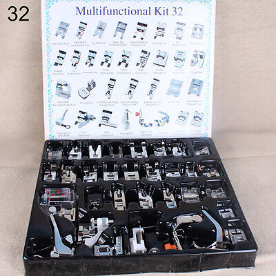 BL_ Domestic Sewing Machine Presser Foot Feet for Brother Janome Singer Set Intr