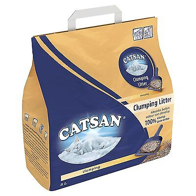 Catsan Clumping Litter Pack of 3 x 5 litres cat kitten new low dust unscented