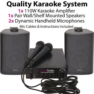 Karaoke System/Kit -2x Speakers & 2x Microphones- TV Amplifier / Party Music for