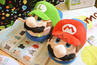 Nintendo Super Mario Brothers Red Mario Adults & Kids Soft Plush Slipper 1 Pairs