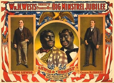 Musical Minstrel Show Theater Ad Poster Blackface 1898 Black Americana Print 712
