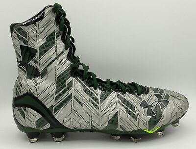 Under Armour Highlight MC Lacrosse Football Green Silver 1264188-301 Size 12.5