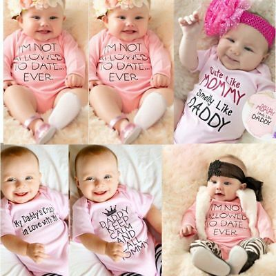 Cute Newborn Infant Baby Girls Bodysuit Romper Jumpsuit Outfit Clothes 0-18M