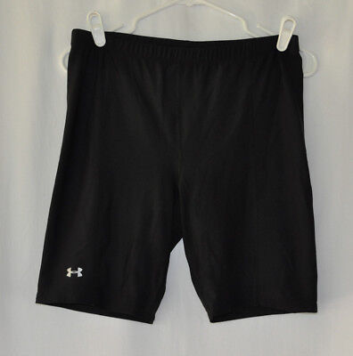 Under Armour Black Compression Youth Young Mans' Shorts Size XL Stretch Waist 30