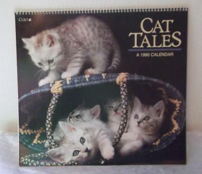 1990  Cat Tales Calendar By Cleo Adorable Cats & Kittens Calendar Great For Pics